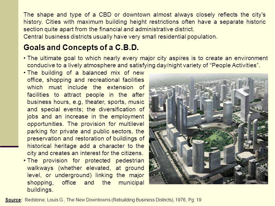 Goals and Concepts of a C.B.D.