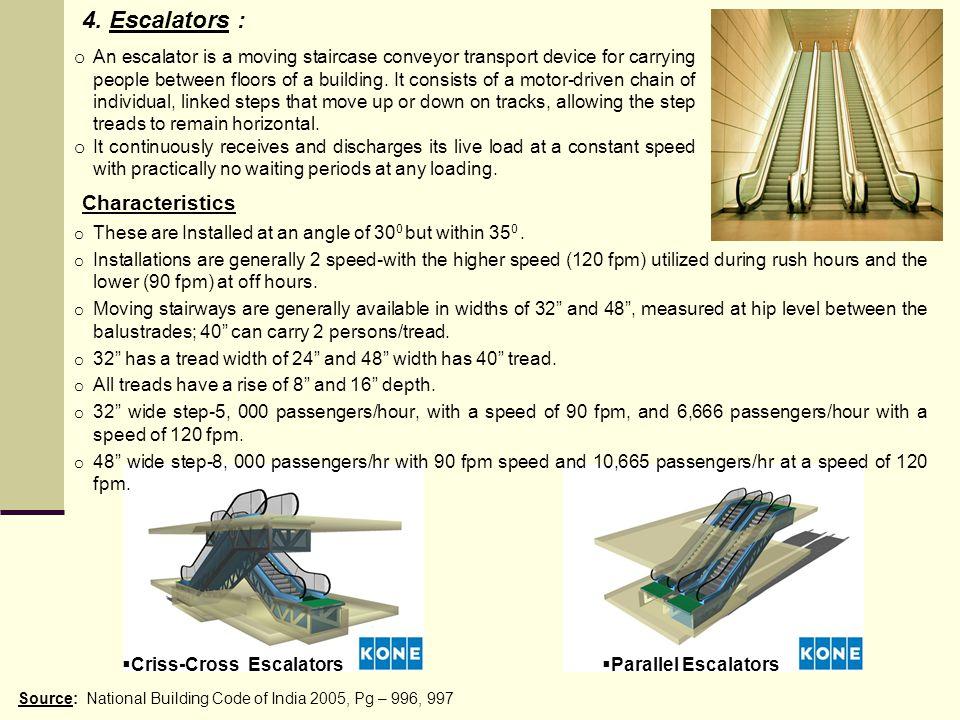 4. Escalators : Characteristics