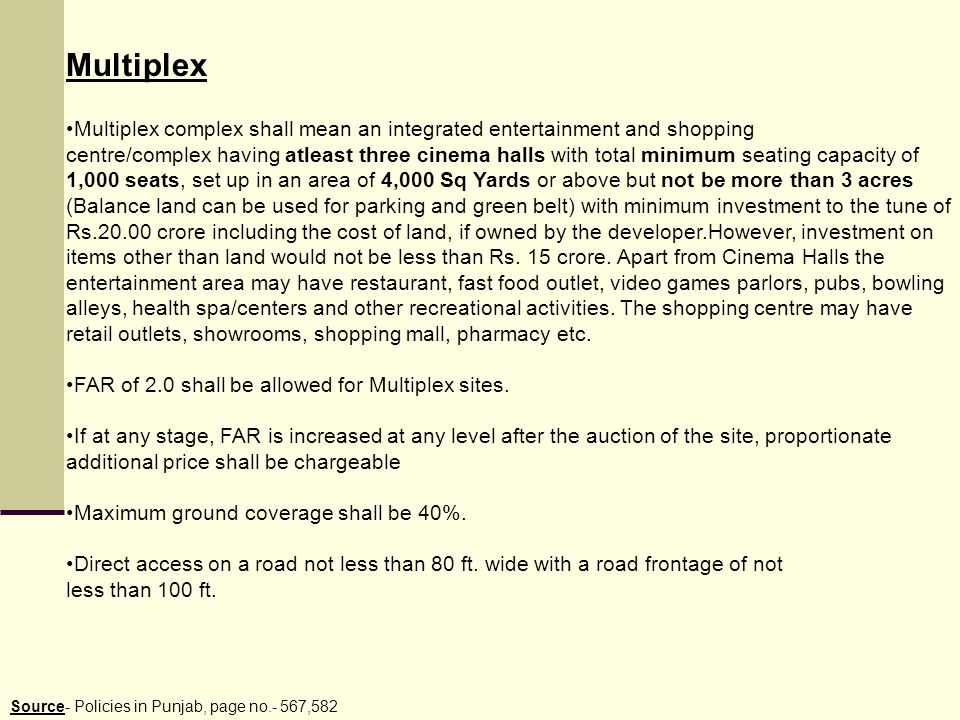 Multiplex Multiplex complex shall mean an integrated entertainment and shopping.