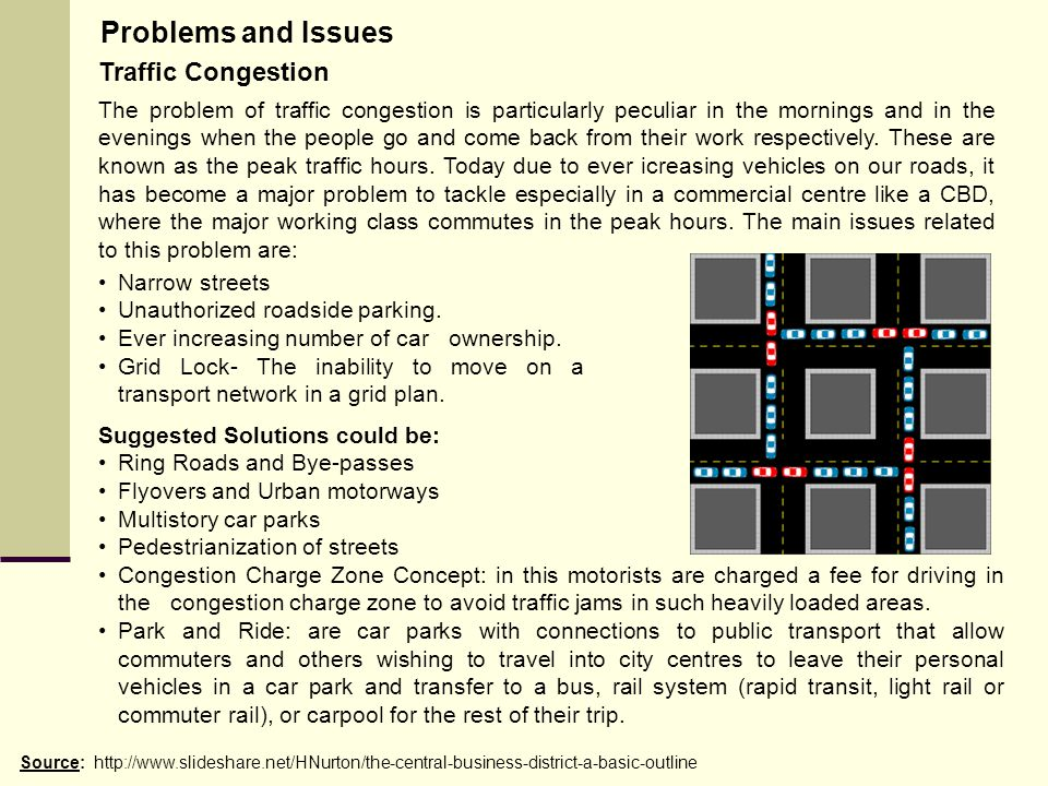 Problems and Issues Traffic Congestion