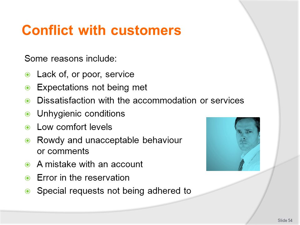 how to avoid conflict with customers