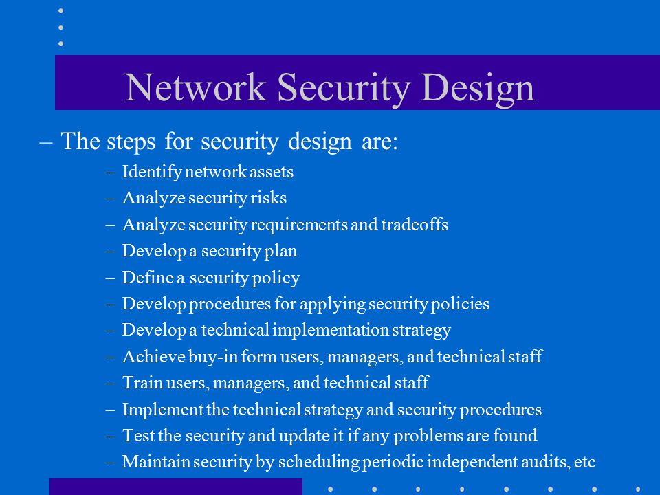 Cis460 network analysis and design ppt download for Network design and implementation plan
