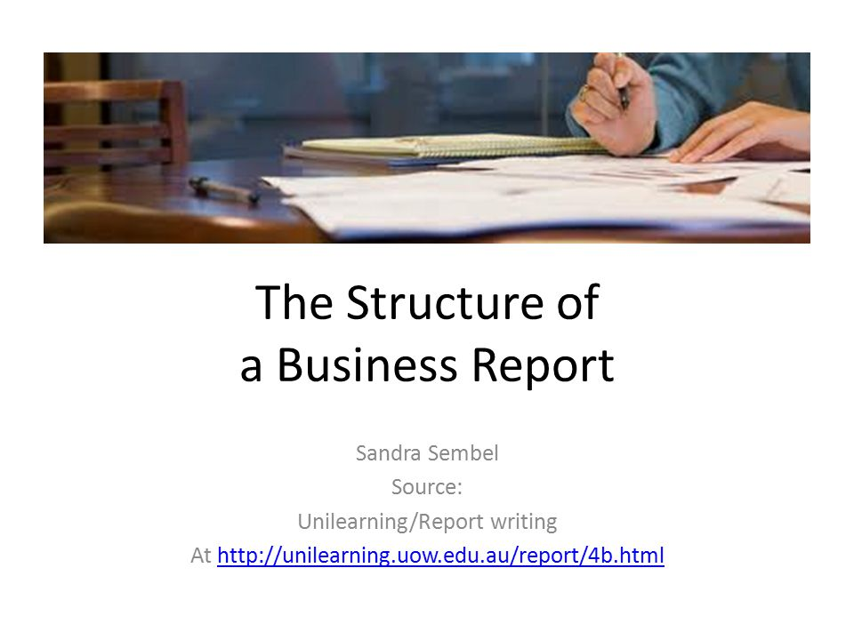 writing business report How to write a business report (this handbook has been written in collaboration with the school of marketing and international business, and.