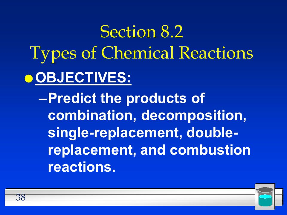 Section 8.2 Types of Chemical Reactions