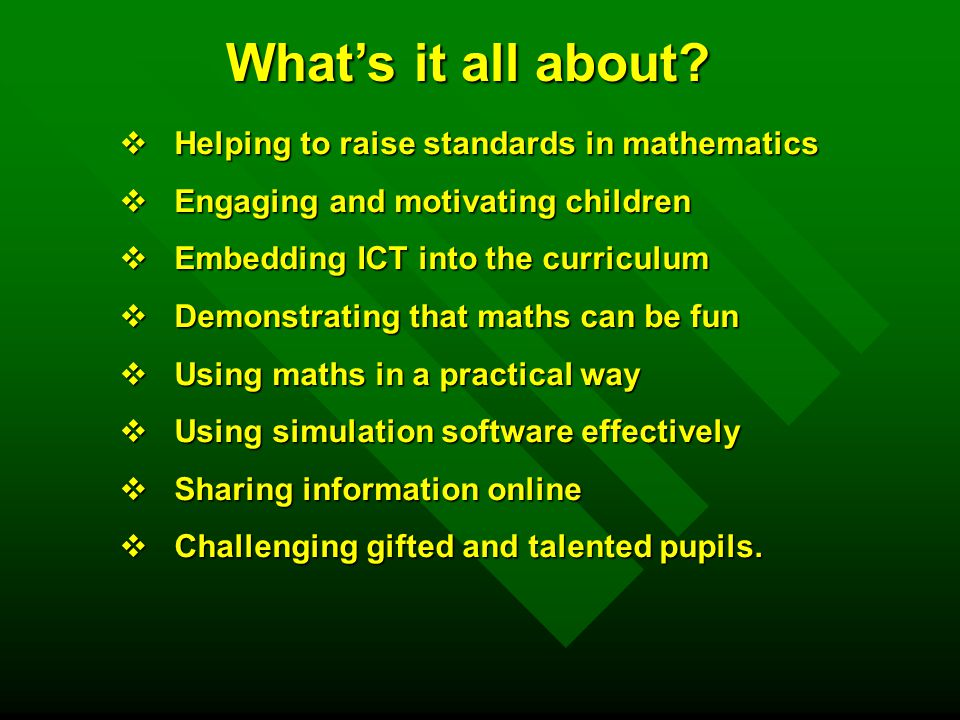 raising standard in mathematics Schools where pupils achieved standards significantly higher than would have  been expected from their prior attainment were identified using.