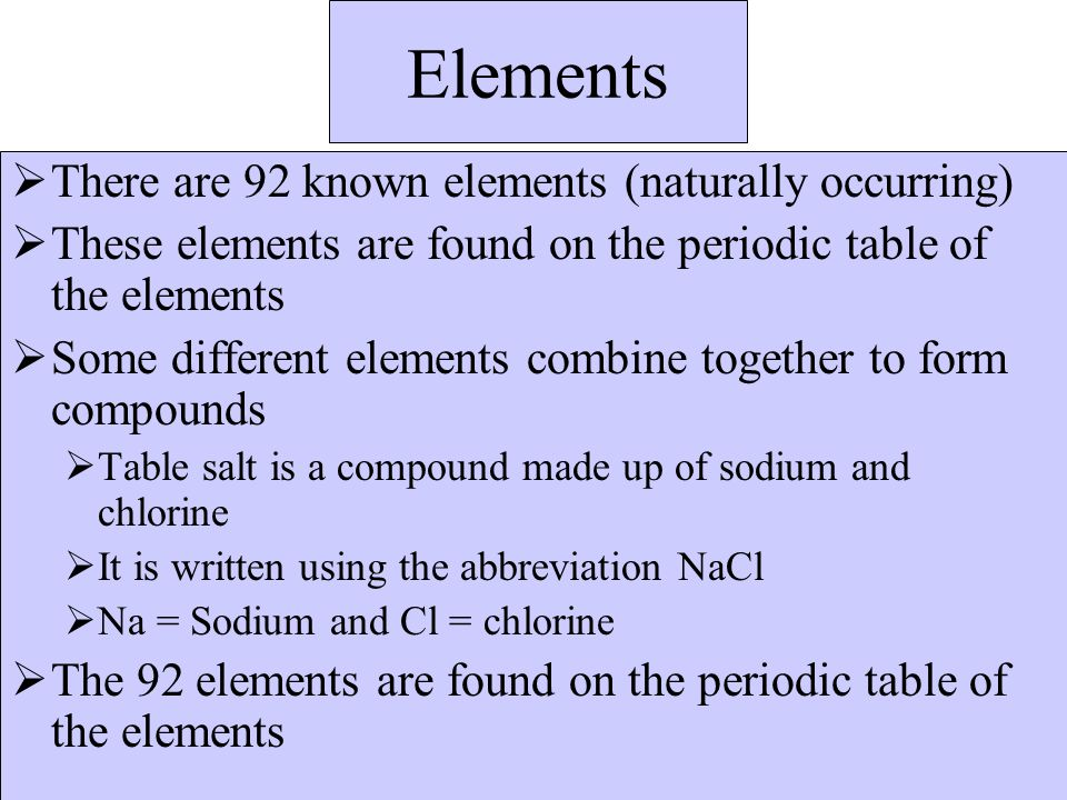 Chemistry notes ppt download 11 elements urtaz Gallery