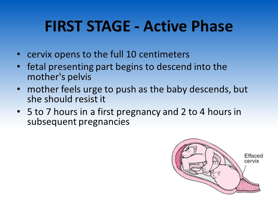 FIRST STAGE - Active Phase
