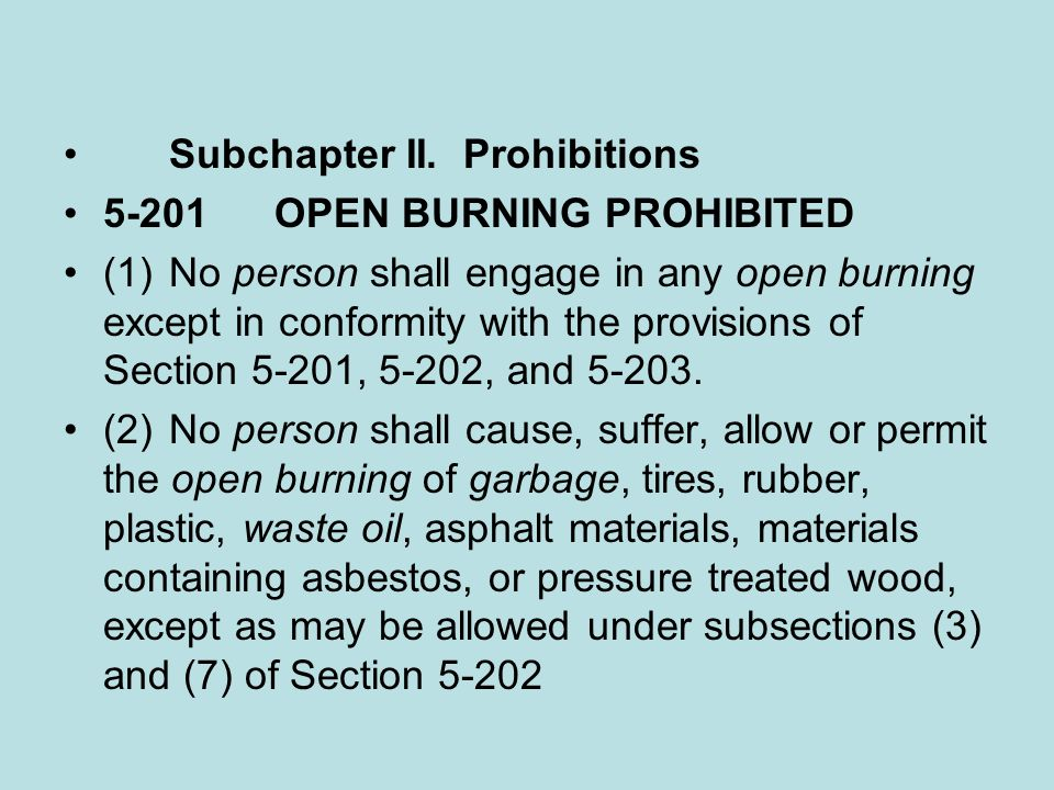 Subchapter II. Prohibitions
