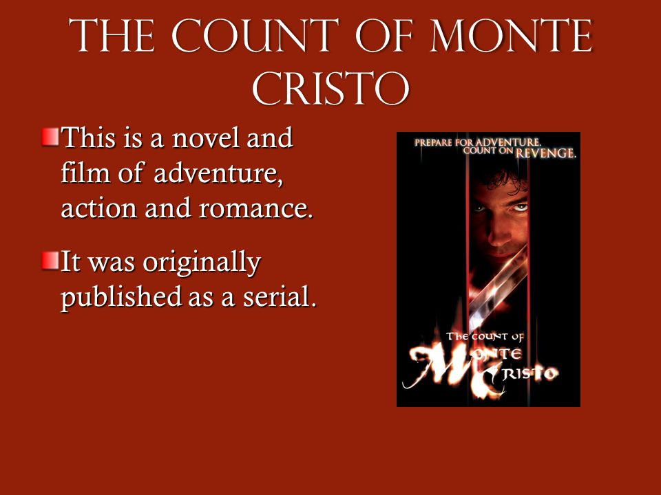 the reaction of count of monte cristo Start studying the count of monte cristo chapter 20-40 learn vocabulary, terms, and more with flashcards, games, and other study tools.