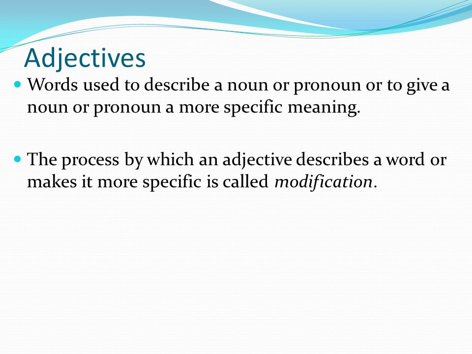 Nouns A noun is a word used to name a person, place, thing ...