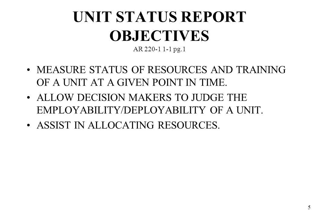 UNIT STATUS REPORT AR dtd 31 JUL 93 DA Form 2715-R NOTES: - ppt ...