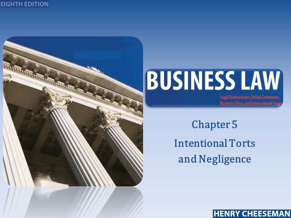intentional torts A type of tort that can only result from an intentional act of the defendant depending on the exact tort alleged, either general or specific intent will need to be proven.
