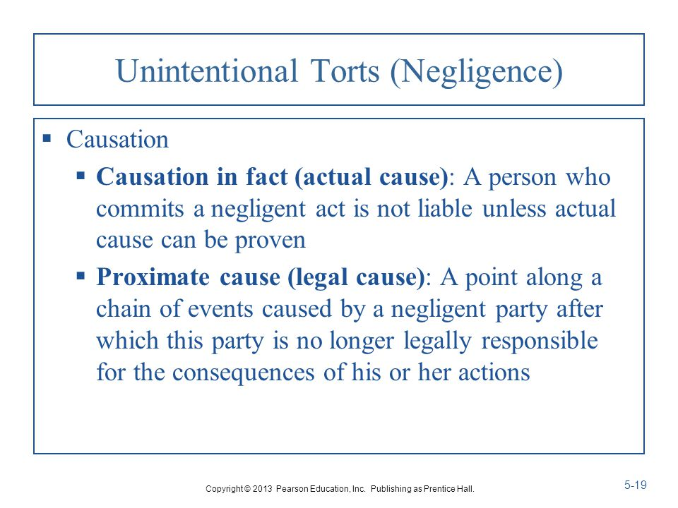conclusion of tort and negligence Chapter 5 intentional torts, negligence, and strict liability three kinds of torts a tort is a wrong there are three kinds of torts intentional torts.