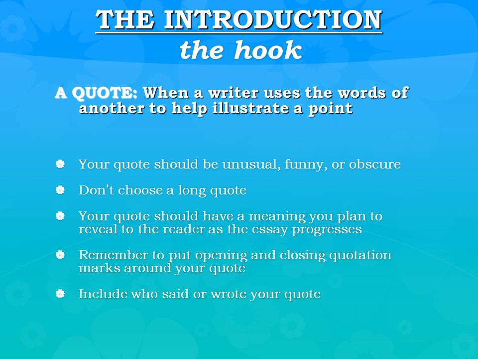 how to put a quote in an introduction paragraph