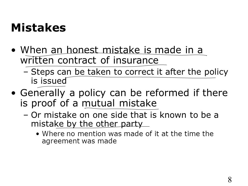Insurance company operations ppt video online download mistakes when an honest mistake is made in a written contract of insurance steps can platinumwayz