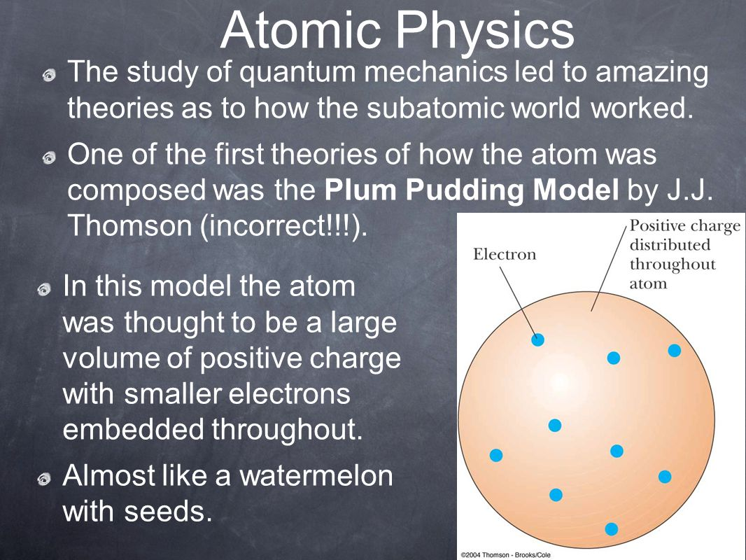Atomic Physics The study of quantum mechanics led to amazing theories as to how the subatomic world worked.