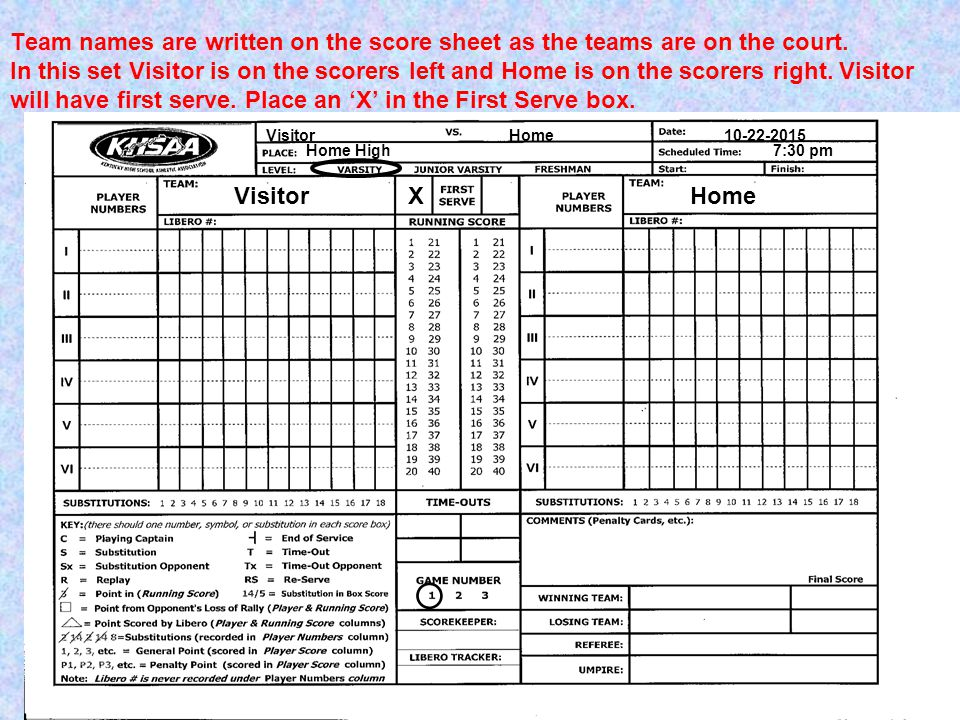 Cute Volleyball Score Sheet Template Images  Example Resume And