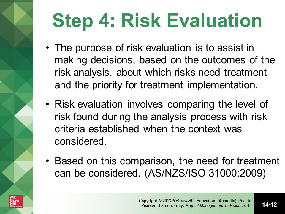 Step 4: Risk Evaluation