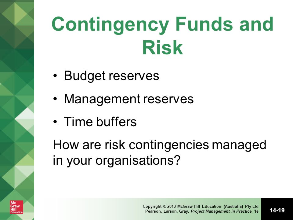 Contingency Funds and Risk