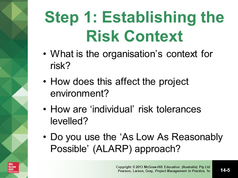 Step 1: Establishing the Risk Context