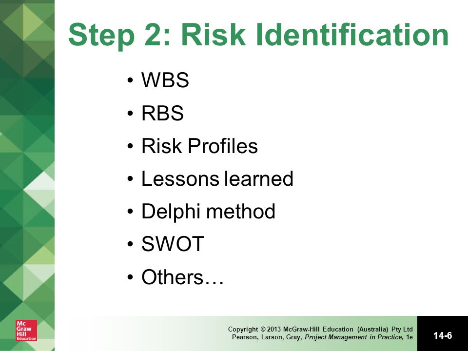 Step 2: Risk Identification