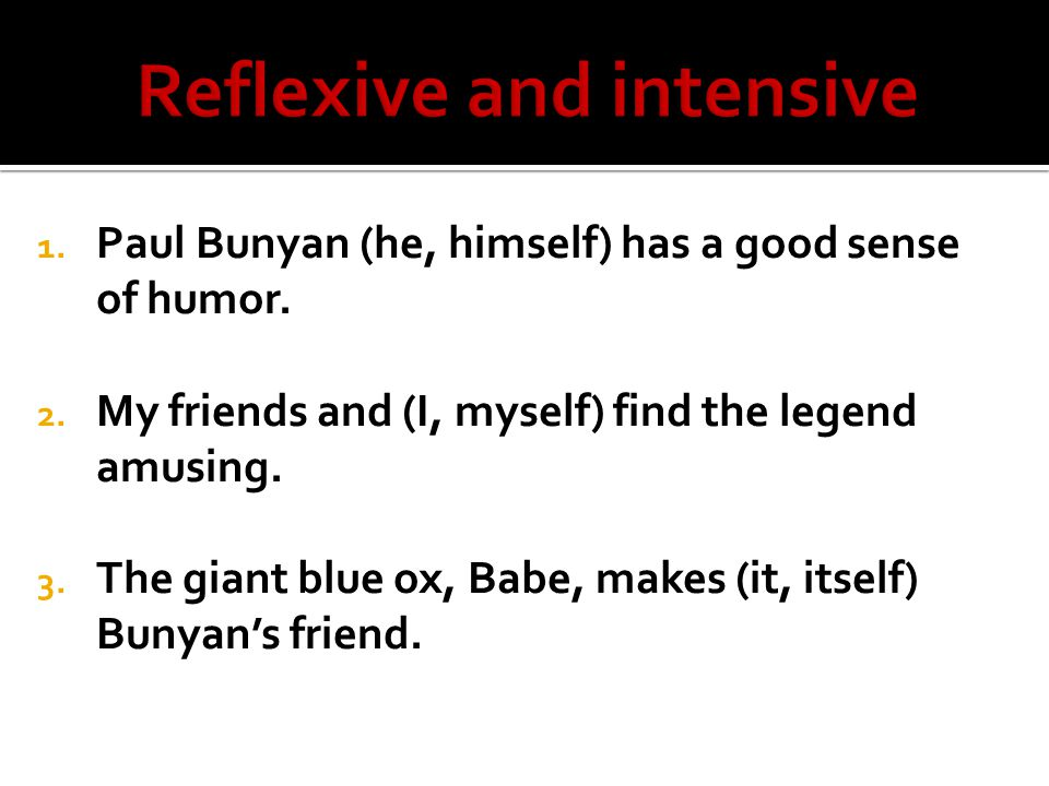 reflexive and intensive pronouns pdf