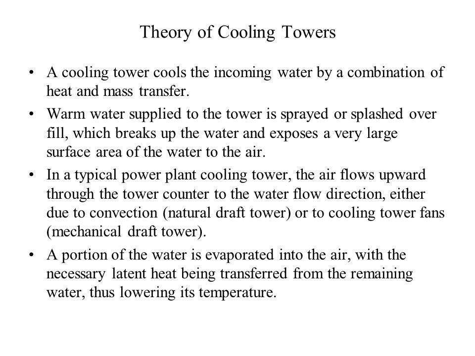 Cooling Tower: Natural Draft Cooling Tower Ppt