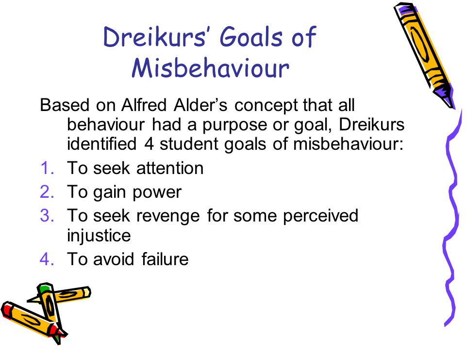 dreikurs goal centred theory Dreikurs goal centered theory natalie maxwell loading unsubscribe from natalie maxwell  behavioral theory approach to classroom management - duration: 11:08.