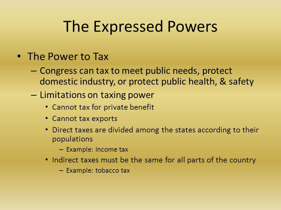 Expressed Powers Examples