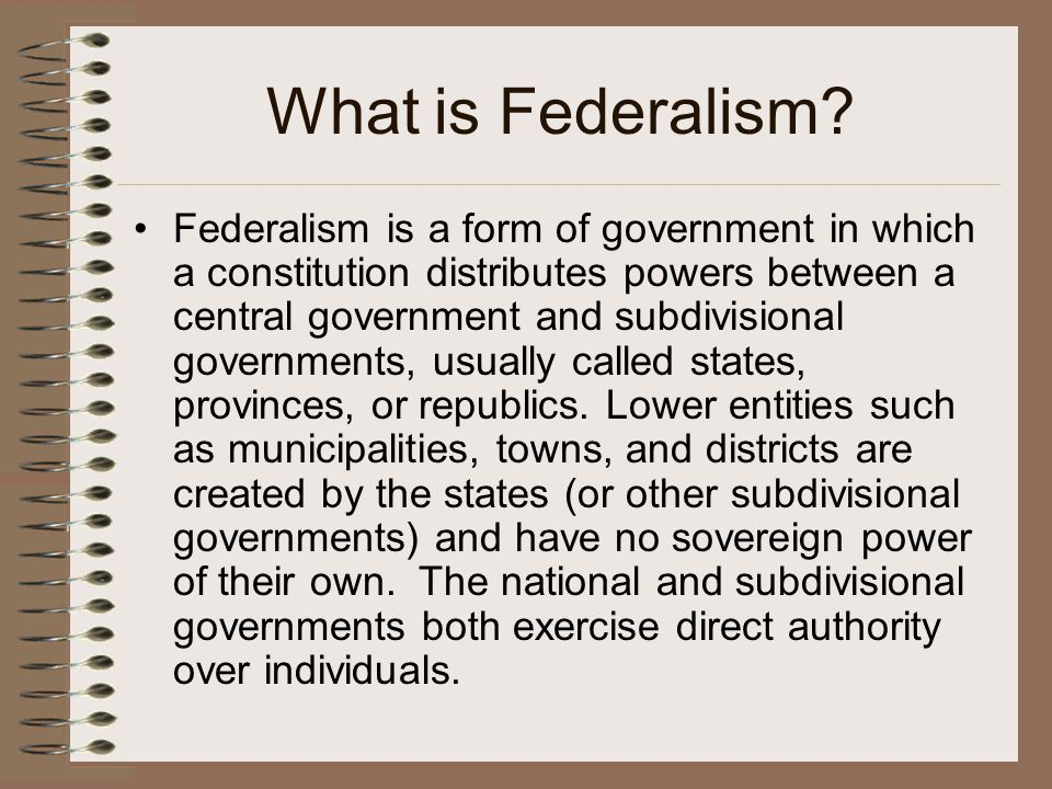 federalism united states constitution and government The united states government is based on federalism, with governmental power divided between several entities this lesson explores federalism and.