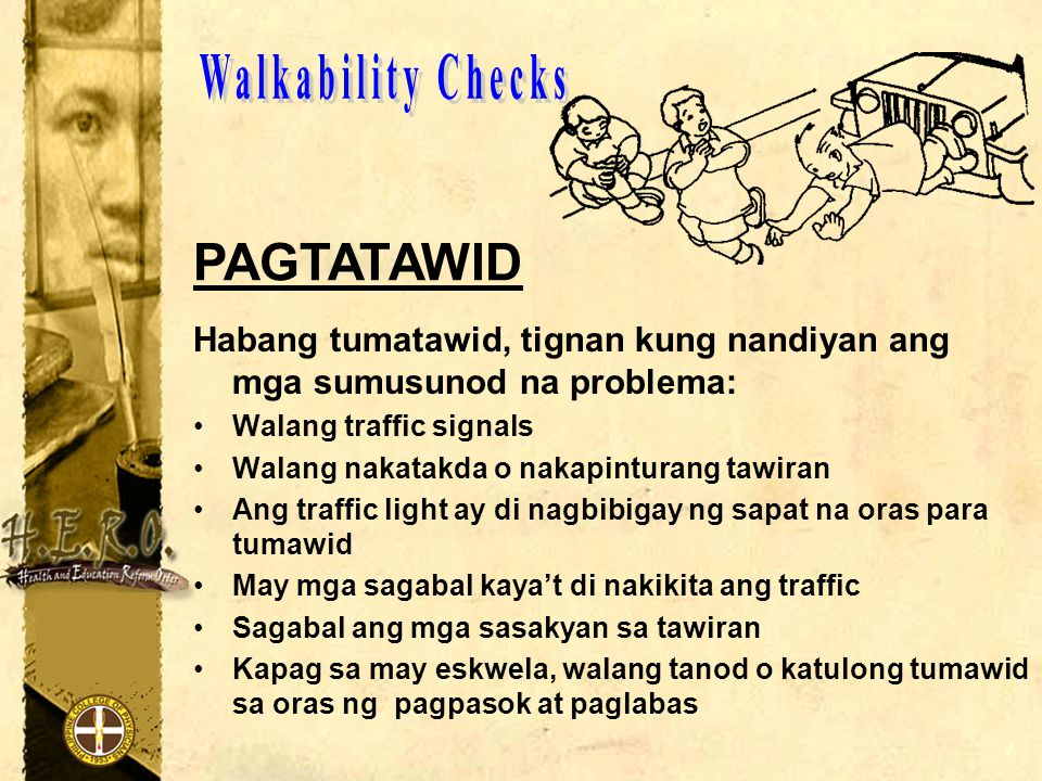 Walkability Checks PAGTATAWID