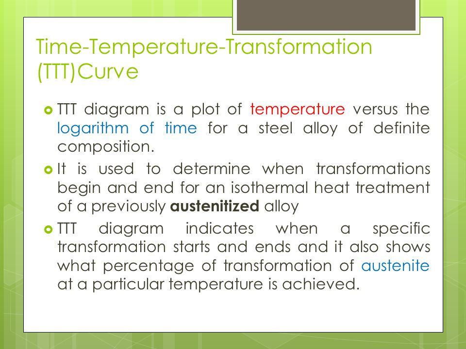 Heat treatment of steel ppt download time temperature transformation tttcurve ccuart Images