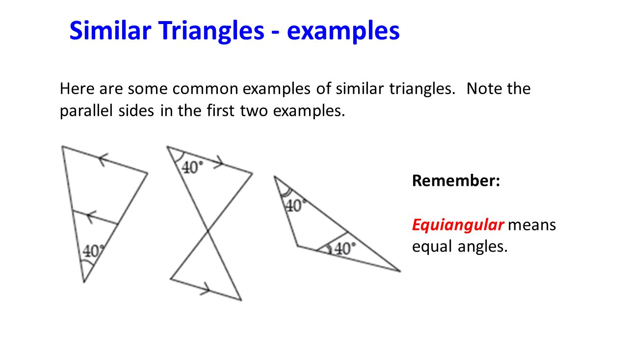 Similar Triangles and other Polygons - ppt video online download