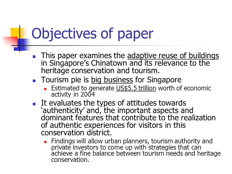 relationship of tourism and heritage conservation singapore