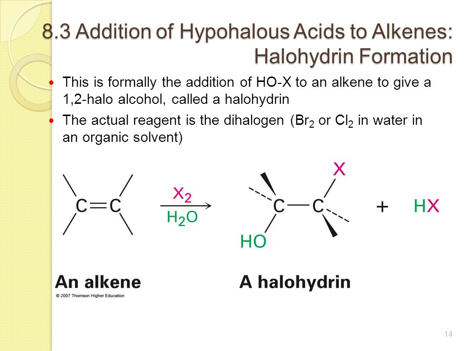 mechanism of bromine addition to alkenes Halogenation is the addition of halogen atoms to a π‐bond system for example, the addition of bromine to ethene produces the substituted alkane 1,2‐dibromoethane mechanism and stereochemistry of halogenation alkenes and halogens are nonpolar molecules however, both types of molecules, under .