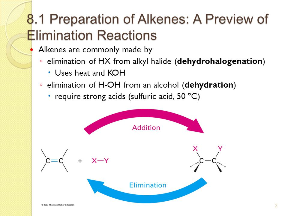 alkene synthesis from alcohol preparation of Synthesis of carboxylic acids  the alkene must contain at least one hydrogen located at the double bond,  preparation and assessment.