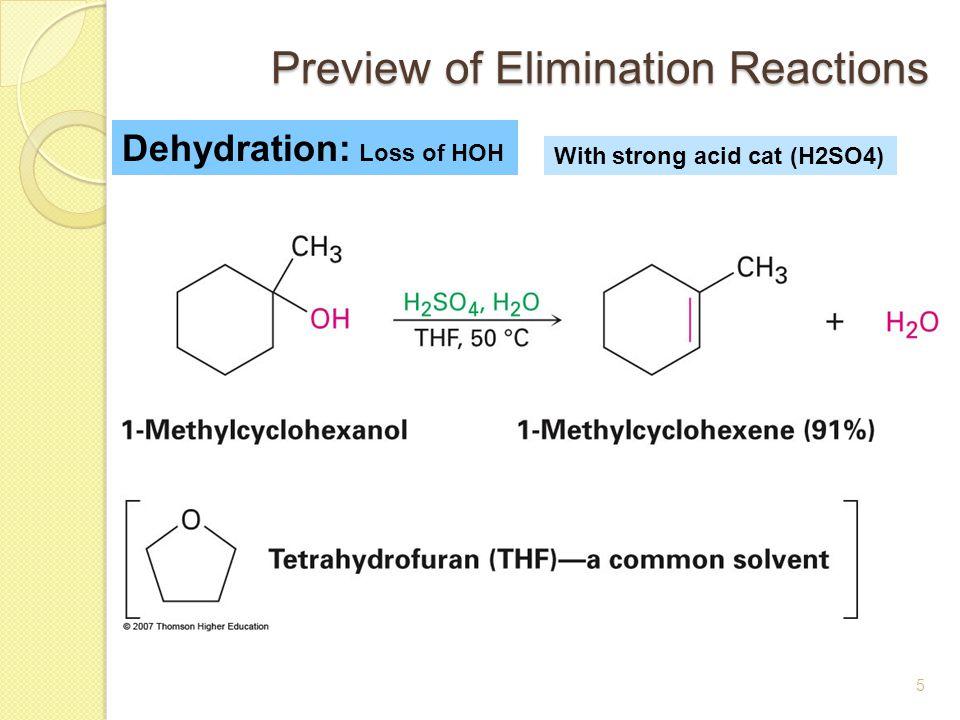 alkene fron an alcohol cyclohexene synthesis