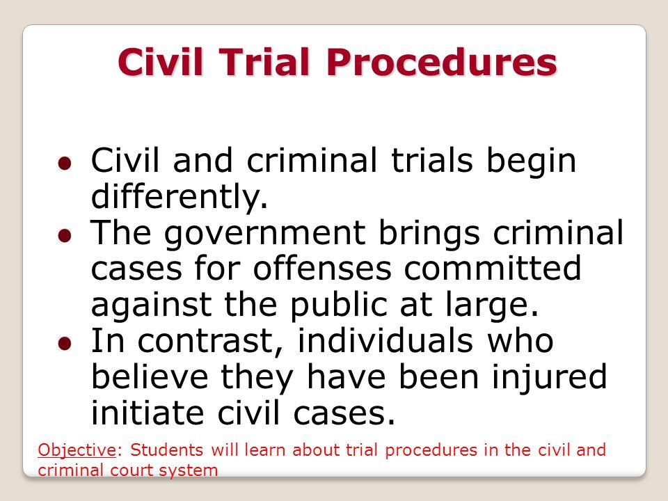 Civil Trial Procedures