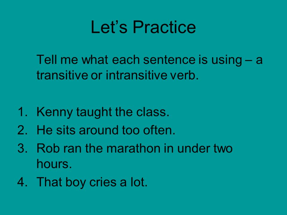 transitive and intransitive verbs pdf