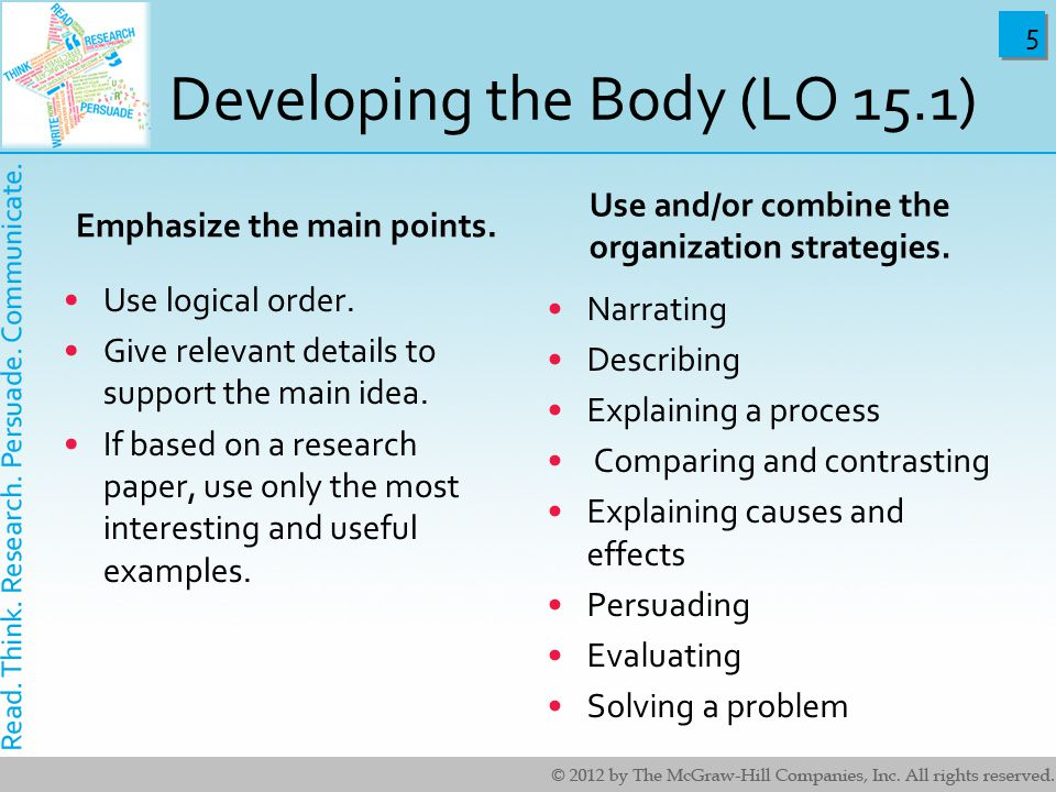 Developing the Body (LO 15.1)