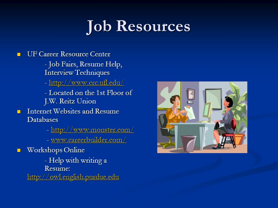 Career Resource Center Uf Resume Review