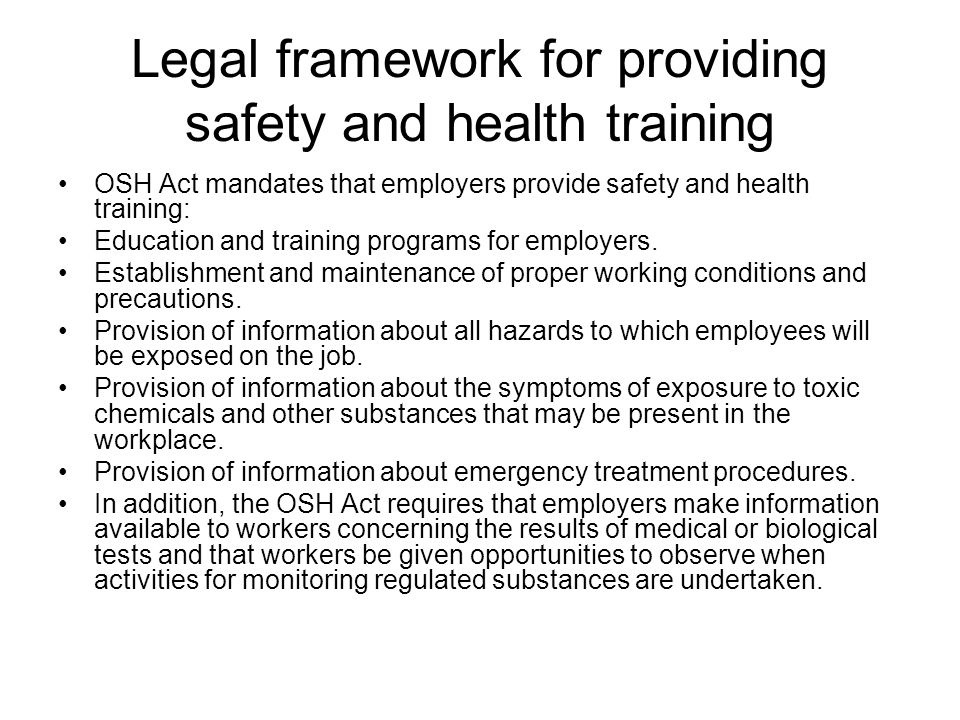 british legal framework for health and safety Searchable ohs regulation & related materials the occupational health and safety (ohs) regulation and part 3 of the workers compensation act contain legal requirements for workplace health and safety that must be met by all workplaces under the inspection jurisdiction of worksafebc.