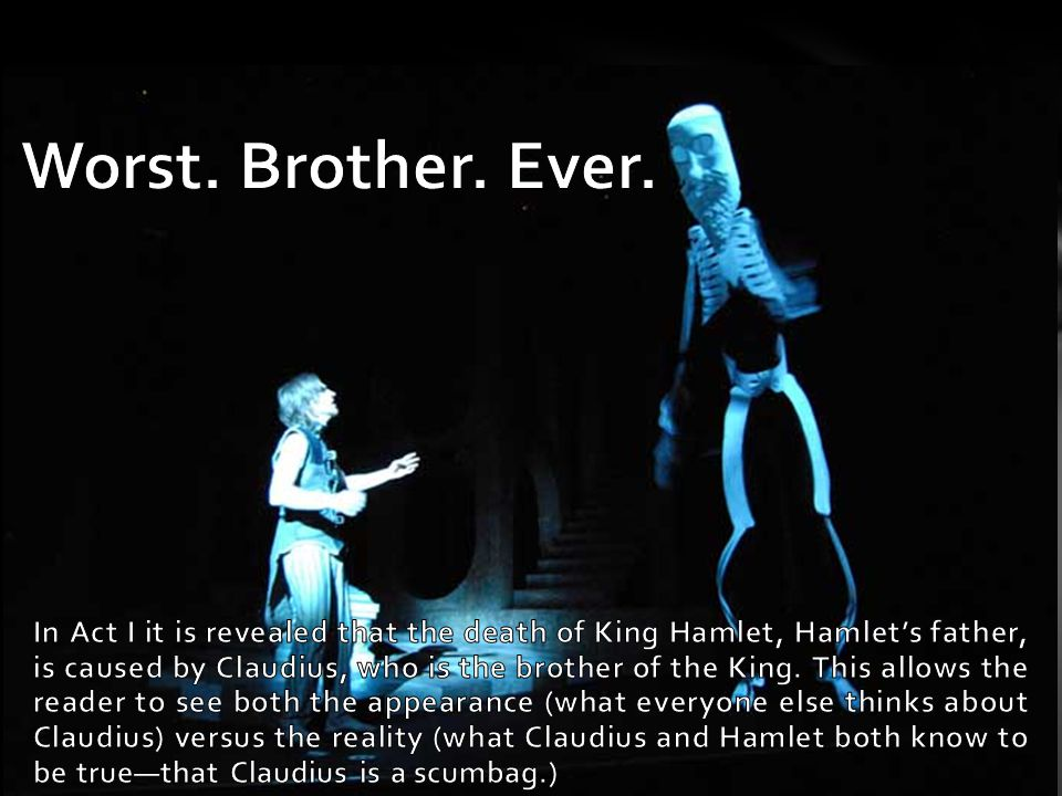 hamlet appearance vs reality In the play hamlet, shakespeare's characters are confronted with the timeless question: how can one determine what is actually true from what only seems.