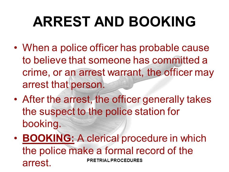 Arrest Procedures