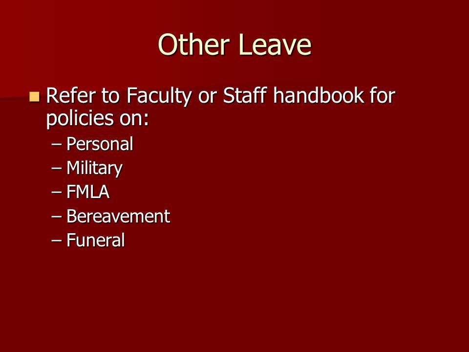 what is staff handbook policies