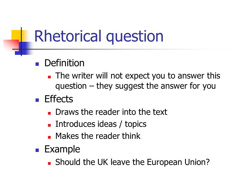 how to write formal rehtorical questions