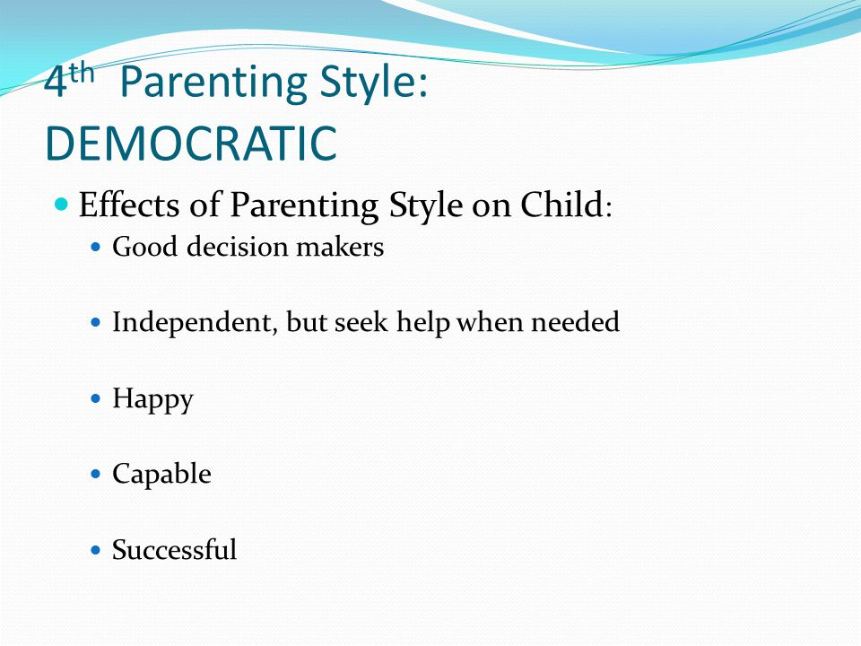 parenting styles and their effect on children behavior education essay Parenting offers an array of topics worth evaluating, making this broad subject ideal for an argumentative essay after thoroughly researching just one the many topics that parents face as they raise their children, you can develop well-supported conclusions about your topic.