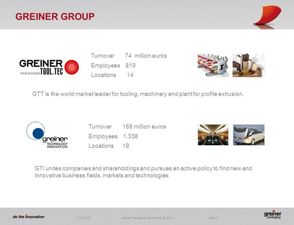 4 Greiner Packaging International. Greiner Packaging International    ppt video online download