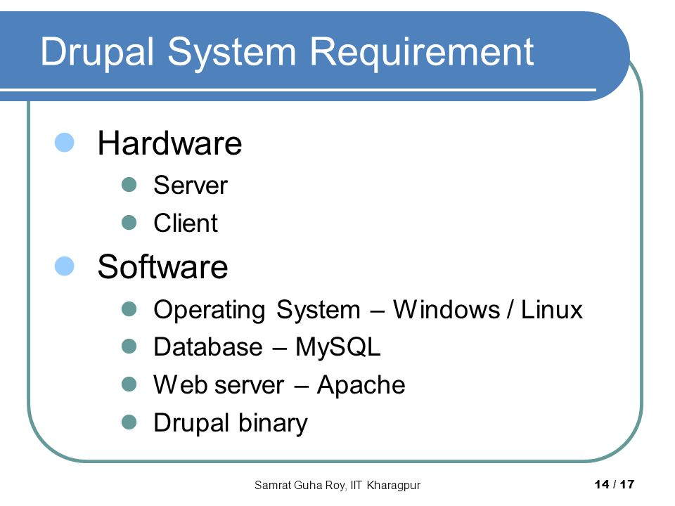 Drupal System Requirement