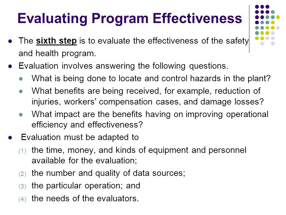 evaluate the effectiveness of health and 2013-6-19  10 monitoring and evaluation evaluate effectiveness monitoring and evaluation is part of a continuous process of learning and.